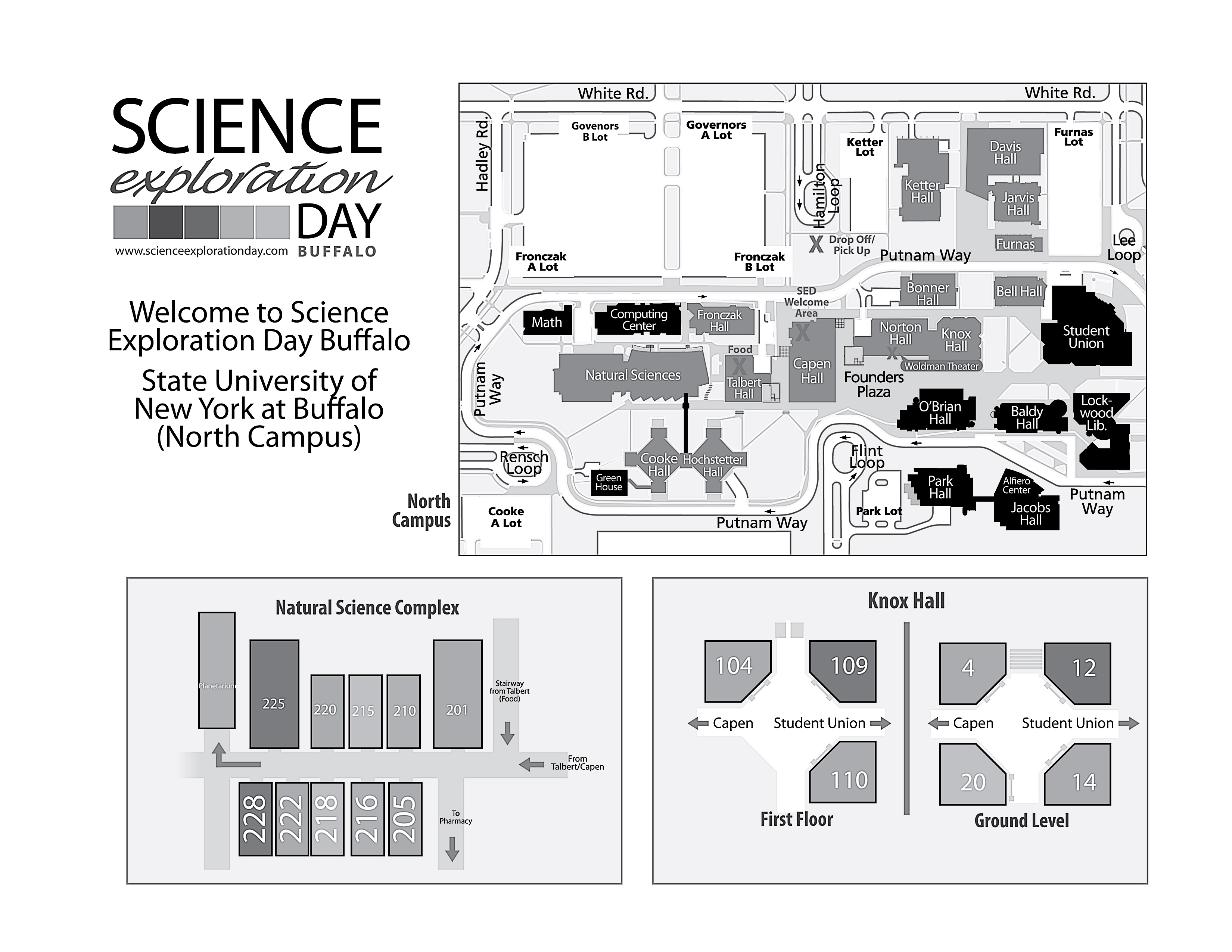 FAQ Science Exploration Day - Ub north campus map